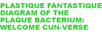 PLASTIQUE FANTASTIQUE DIAGRAM OF THE PLAGUE BACTERIUM: WELCOME CUN-VERSE